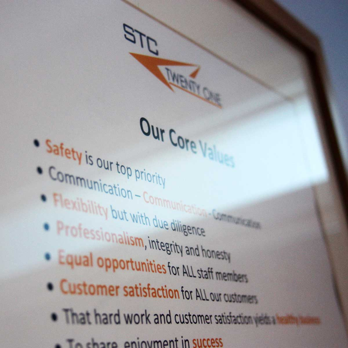 aviation engineering services stc twenty one core values